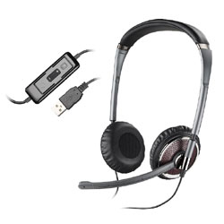 Plantronics Blackwire C420-M Foldable Binaural USB Headset Optimized for Microsoft Office