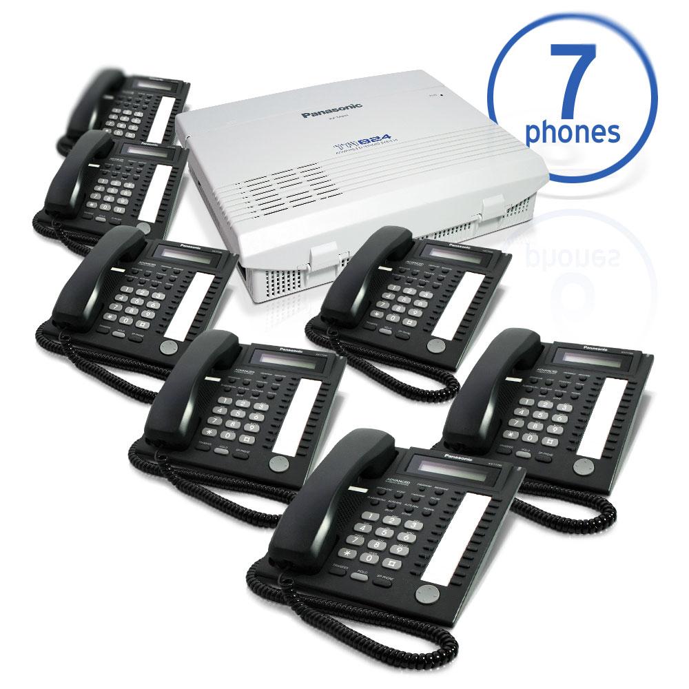 Panasonic KX-TA824 Phone System Bundle with (7) KX-T7731 Speakerphones