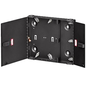 Small SDX Wall-Mount Fiber Enclosure Empty with Dual Door & No Lock
