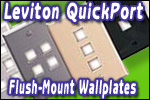 Leviton QuickPort Flush-Mount Wallplates