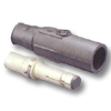 22 Series Ball Nose, Male In-Line Latching Connector and Insulator - Crimped