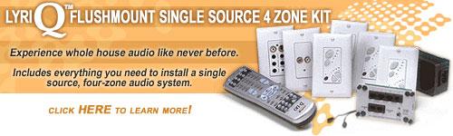 On-Q - Legrand LyriQ Flushmount Single Source 4 Zone Kit