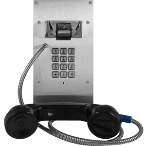 Vandal Resistant VoIP Phone with Auto Dialer with Keypad and Entry System