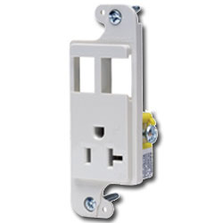 Hubbell NETSELECT JLOAD™ Standard Multimedia 20 Amp Unloaded Outlet