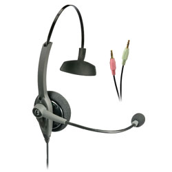 VXI TalkPro SC1 Monaural PC Sound Card Headset with Speech Recognition