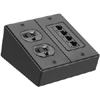 Furniture Connectivity Box, Surface Mount, 2-Gang, Crinkle Black