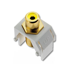 Legrand - On-Q Yellow to RCA F Connector