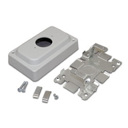 Legrand - Wiremold 1500 and 2600 Series™ Steel Pancake® Overfloor Raceway Single Receptacle Box