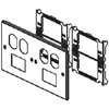 6000/4000 Series Four-Gang Overlapping Cover Two Duplex Openings and Two Series II Mini Adapters
