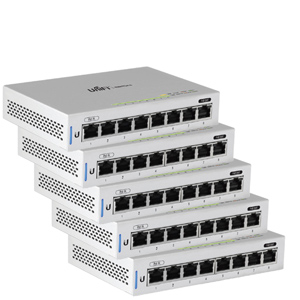 Unifi 8 Port Fully Managed Gigabit Switch Pack of 5