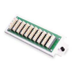 Leviton 1x9 Bridged Phone Distribution Module with Bracket