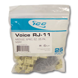 Voice Modular Connectors (Package of 25)