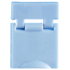 Colored Designation Shutters, Blank, Light Blue (Package of 100)