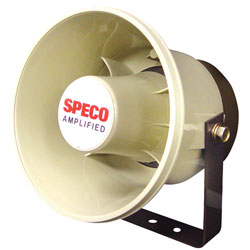 "Speco Technologies 6""ABS Plastic 20Watt Amplified Weatherproof P.A. Speaker"