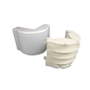 Legrand - Wiremold 5400 Series Nonmetallic Raceway™ Fittings - Bend Radius Full Capacity External Elbow