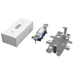 Legrand - Wiremold 500® and 700® Series 15A, 125V Single Pole Switch and Box Fitting