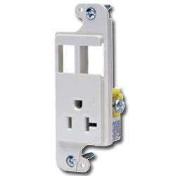 Hubbell NETSELECT JLOAD™ Standard Multimedia 20 Amp Unloaded Outlet