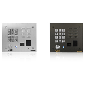Viking VoIP Stainless Steel Entry Phone with Built-In Entry System Proximity Card Reader and Analog Color Video Camera