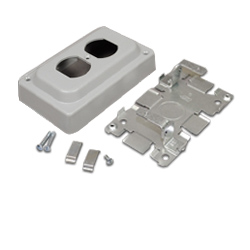 Legrand - Wiremold 1500 and 2600 Series™ Steel Pancake® Overfloor Raceway Duplex Receptacle Box