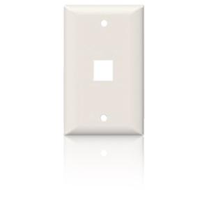 SpeedStar 1 Port Single Gang Smooth Faceplate White