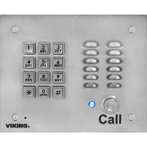 Viking VoIP Stainless Steel Entry Phone with Keypad