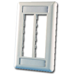 Legrand - Ortronics TracJack™ 6-Port Single Gang Plastic Faceplate