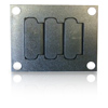 Carpet and Tile Communications Cover Plate Black