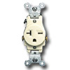 Side Wired 20A 250V Single Receptacle