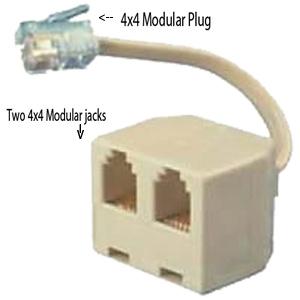 4C4P Handset Modular Plug