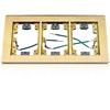3-Gang Rectangular Flange for Wooden Floors