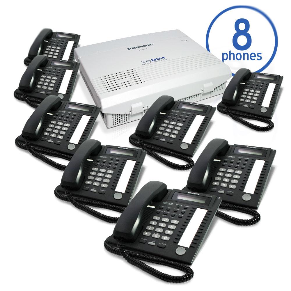 Panasonic KX-TA824 Phone System Bundle with (8) KX-T7731 Speakerphones