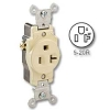 Side Wired 20 amp 125 volt Single Receptacle