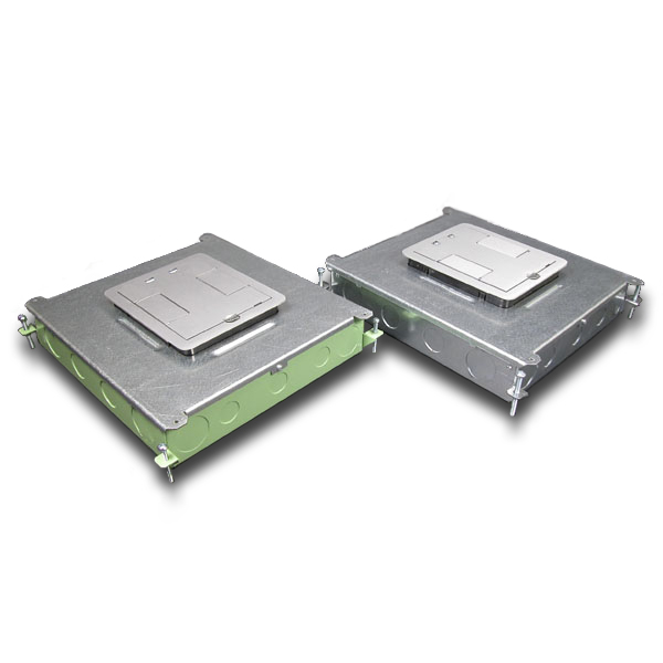 Six-Compartment Single- or Multi-Service Recessed Floor Box