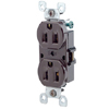 8-Hole Quickwire Push-In 15Amp 125V Grounding, Brown (Package of 10)