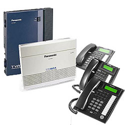 Panasonic KX-TA824 Phone System Bundle with (3) KX-T7736 Speakerphones and (1) KX-TVA50 Voicemail