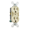 8-Hole Quickwire Push-In 15Amp 125V Grounding, Ivory (Package of 10)