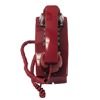 2554 Series Single-Line Wall Phone with Single Gong Ringer, Red