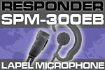 RESPONDER SPM-300EB Series - Medium Duty Lapel Microphone