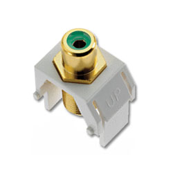 Legrand - On-Q Green RCA to F Connector