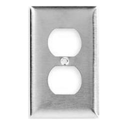 1-Gang Duplex Satin Stainless Wall Plate