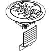 Ratchet-Pro 881 Series Multiple Service Floor Box Cover Kit, Brushed Aluminum