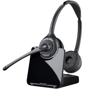 Plantronics CS520 Over-the-Head Binaural Wireless DECT Headset System