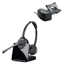 Plantronics CS520 Over-the-Head Binaural Wireless DECT Headset System with HL10 Lifter