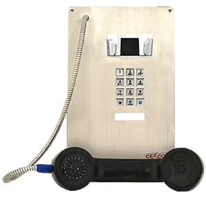 SIP Stainless Steel Panel Phone with Armored Cord and Keypad