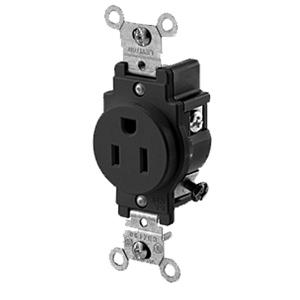 Leviton Side Wired 15Amp 125V Single Receptacle