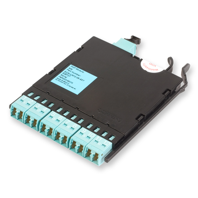 12 Fiber Pretium EDGE® LC Duplex to MTP® Connector Module, 50 µm multimode (OM3)