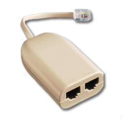 Suttle In-Line DSL Filter & Splitter - 1 Line - 2 Outputs