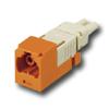Mini-Com FJ Opti-Crimp Y-Keyed Duplex Jack Orange Module 62.5/125um