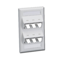 Mini-Com Classic Series Sloped Faceplates with Label and Label Cover