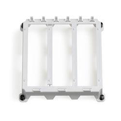 Leviton Plastic Mounting Half Width Bracket-ABS White Plastic-3 Single Bays